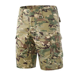 Hiking Shorts Men Summer Quick Dry Large Multi Pocket Loose Outdoor Climbing Training Tactical Camouflage Cargo Tourism Trousers
