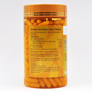 Australia Healthy Care Quality Royal Jelly 365Caps Improvement of well-being Health Supplement Proteins Lipids Hormones 10-HDA