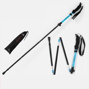 Outdoor Hiking Walking stick Trekking Telescopic baton Adjustable Camping Stick