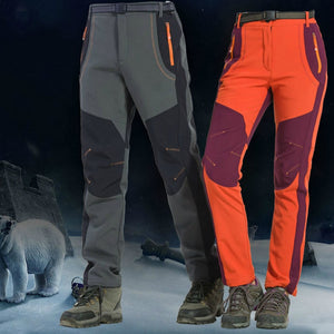 Toppick 2019 New Winter Men Women Hiking Pants Outdoor Softshell Trousers Waterproof Windproof Thermal for Camping Ski Climbing