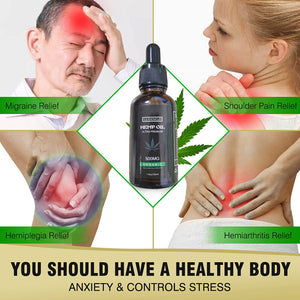 Organic Hemp Oil Massage