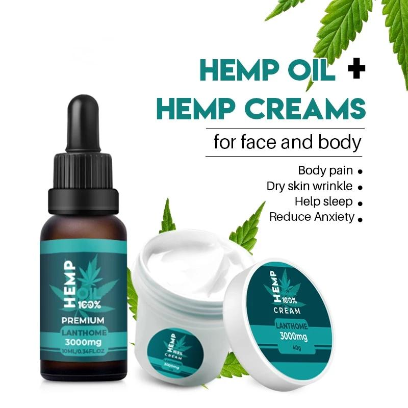 Hemp Oil + Cream Set