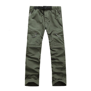 Men's Quick Dry Detachable Hiking Pants Outdoor Sport Summer Camping Trekking Fishing Shorts Breathable Thousers RA068