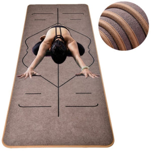 Unique Design Velvet  Body Line TPE Yoga Mats 183X65cm*6mm Sport Exercise Yoga Mats for Fitness Gymnastics with Mat Customizable