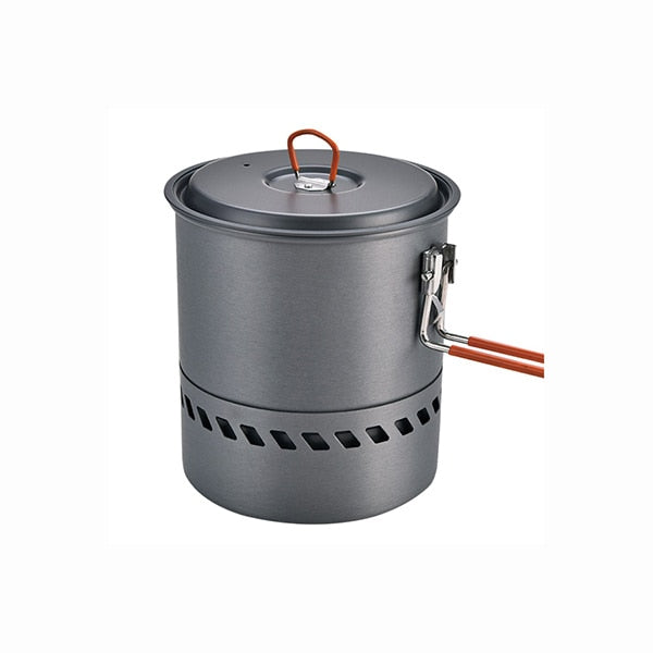 1.5L Portable Outdoor Fast-Heating Pot Utensil Camping Traveling Tableware With Gas Stove for Cooking Hiking Picnic Set