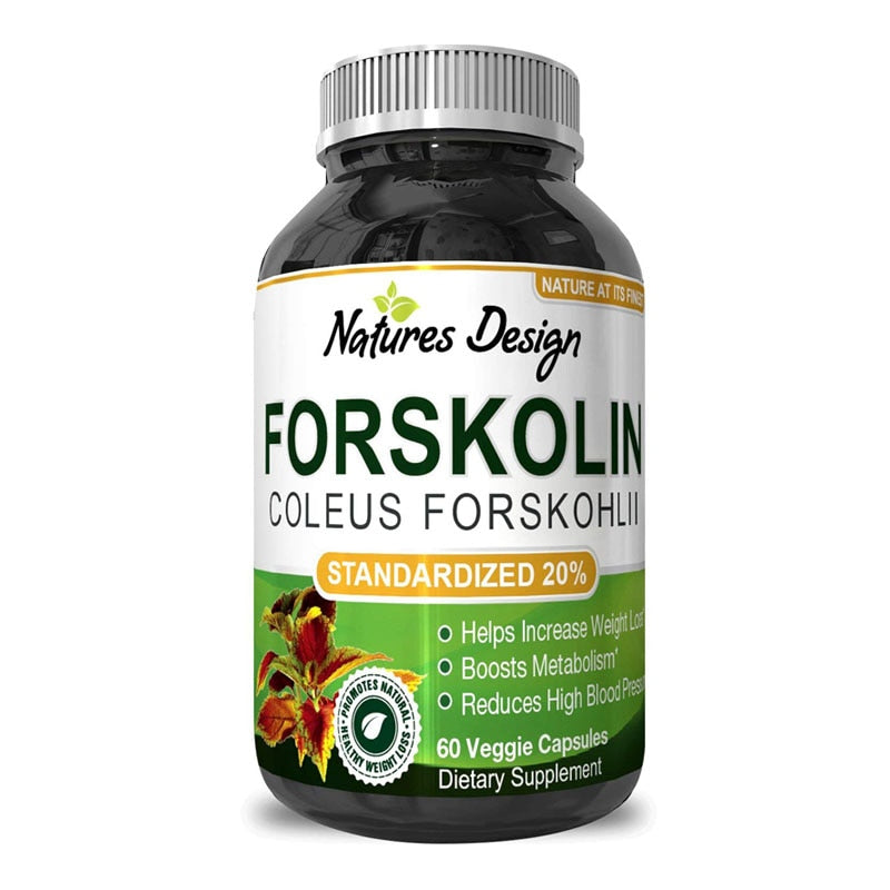 Forskolin Extract - Fat Burning & Metabolism Boosting Weight Loss Supplement - Natural Pills for Women & Men 60 pcs