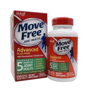Move Free Glucosamine Chondroitin Msm And Hyaluronic Acid Joint Supplement 120 pcs