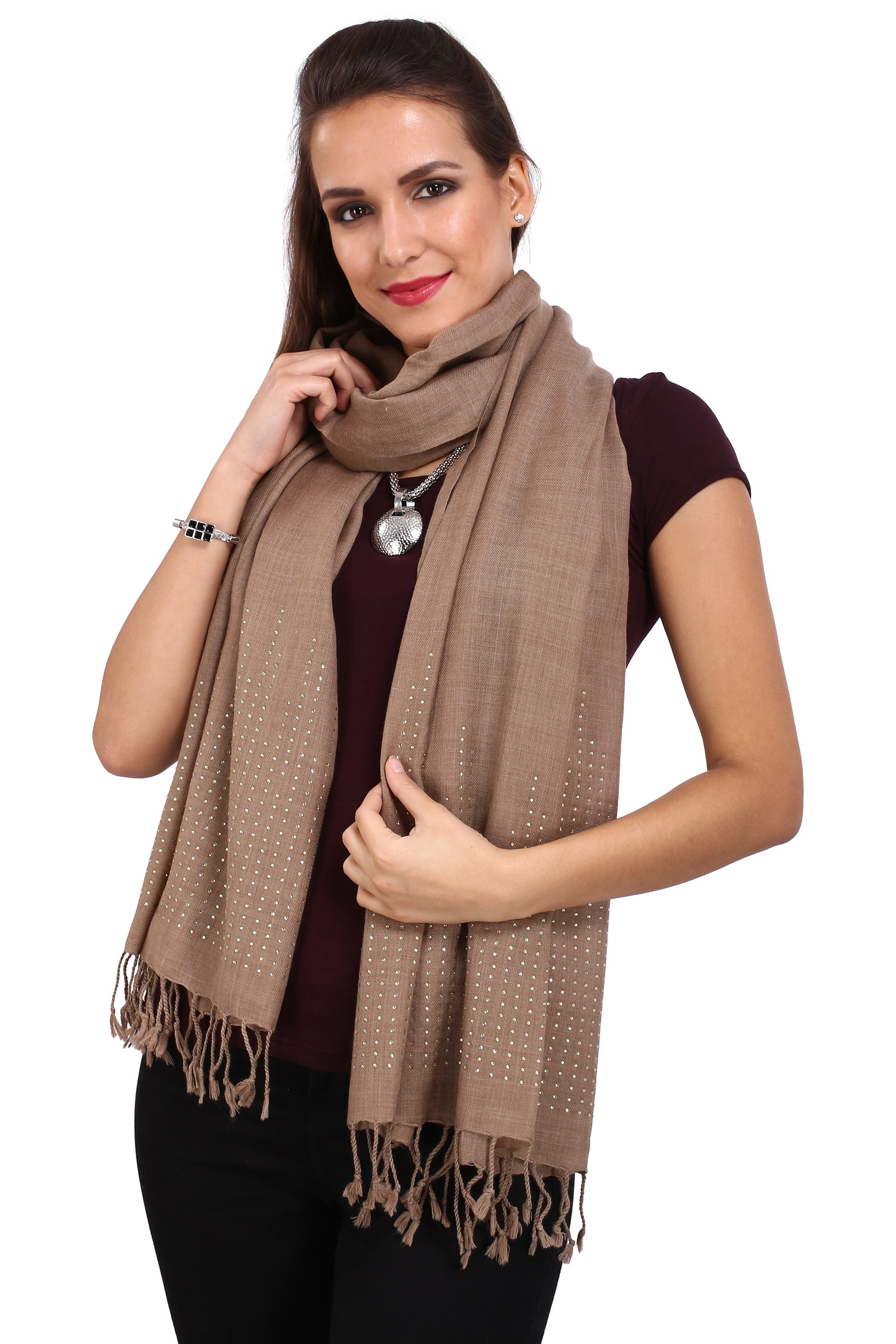 City Skyline Crystal Fine Wool Stole
