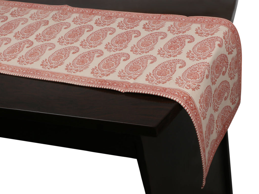Cotton Floral & Paisley Table Runner - 15