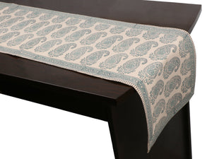 Cotton Floral & Paisley Table Runner - 13
