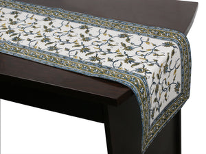Cotton Floral & Paisley Table Runner - 10
