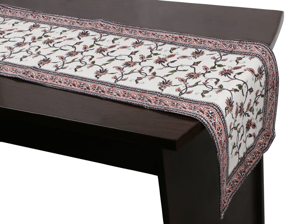 Cotton Floral & Paisley Table Runner - 11