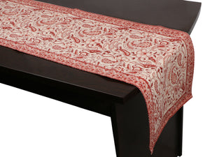 Cotton Floral & Paisley Table Runner - 8