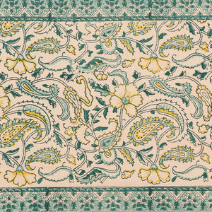 Cotton Floral & Paisley Table Runner - 9