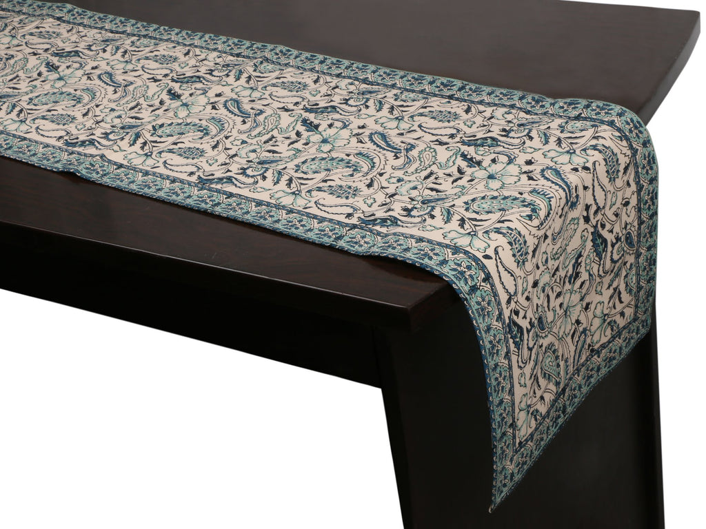Cotton Floral & Paisley Table Runner - 7