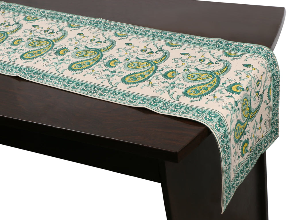 Cotton Floral & Paisley Table Runner - 4