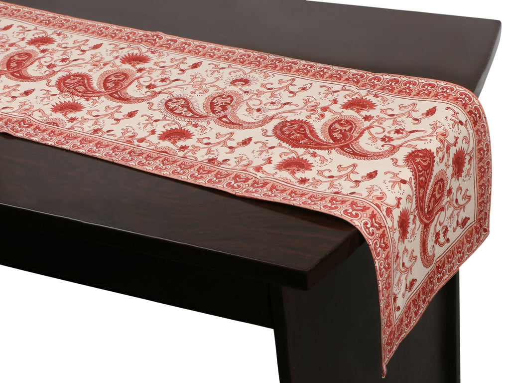 Cotton Floral & Paisley Table Runner - 6