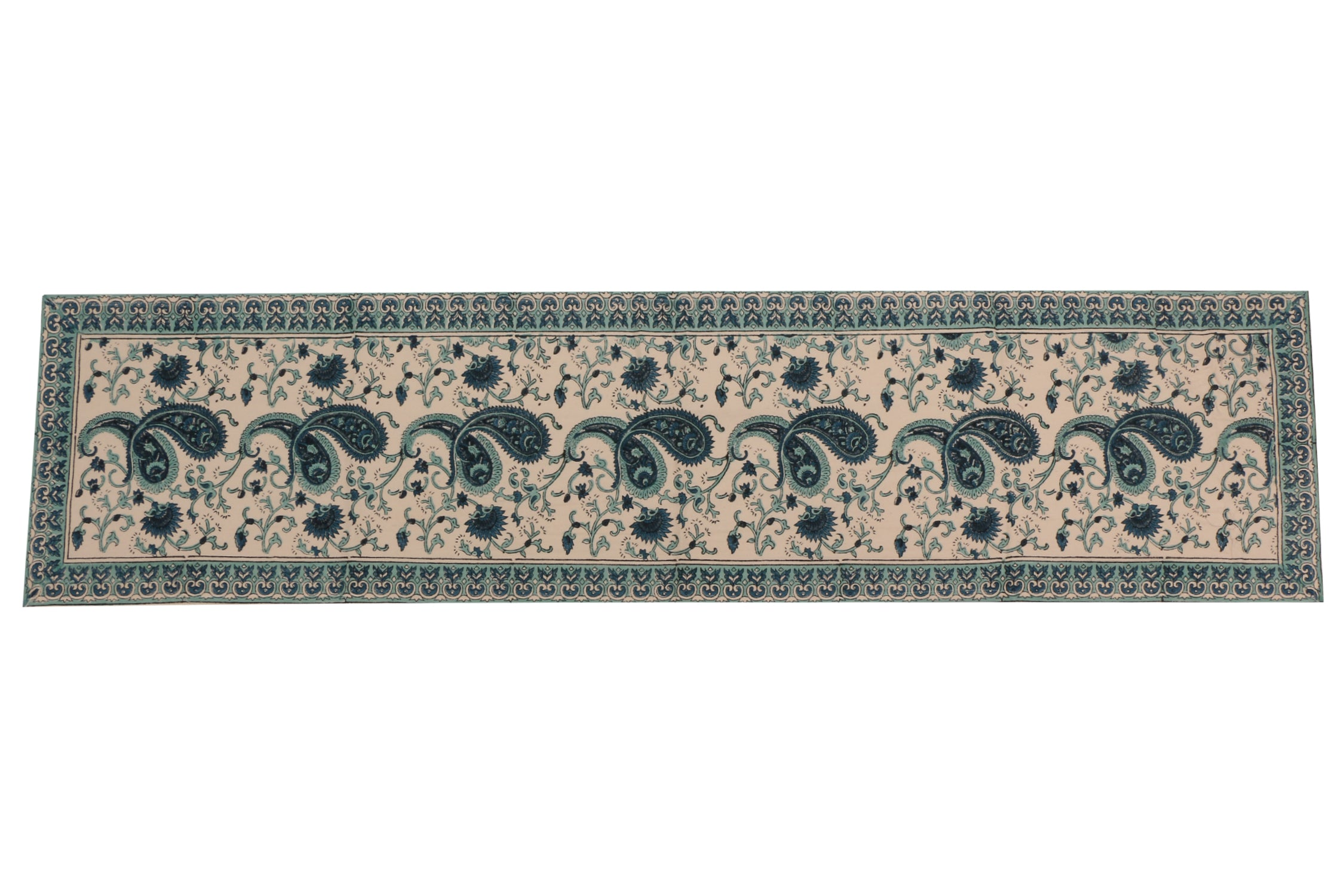 Cotton Floral & Paisley Table Runner - 5
