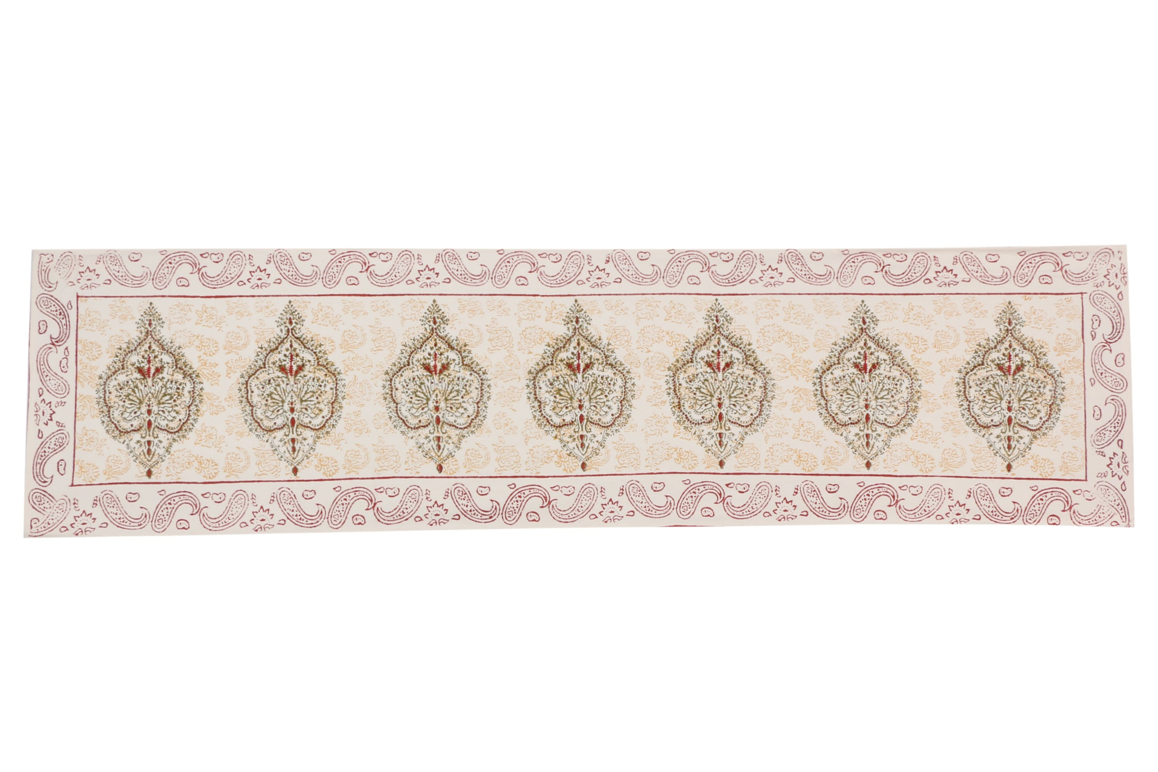 Cotton Floral & Paisley Table Runner - 21