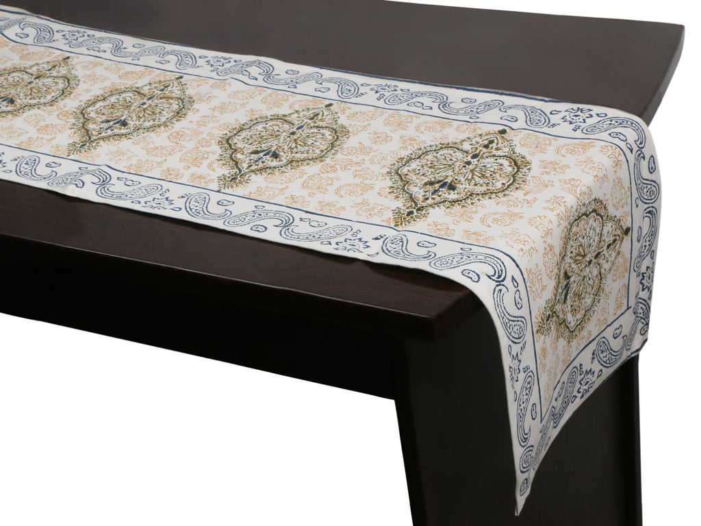 Cotton Floral & Paisley Table Runner - 20