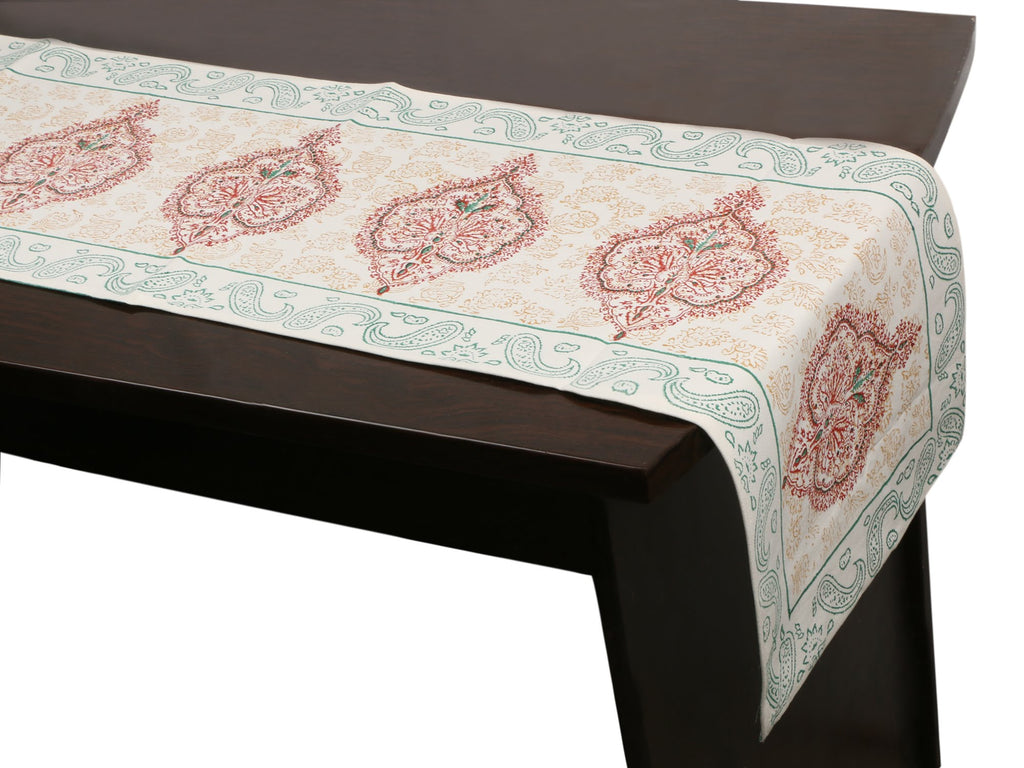 Cotton Floral & Paisley Table Runner - 19