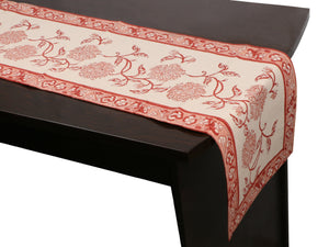 Cotton Floral & Paisley Table Runner - 17