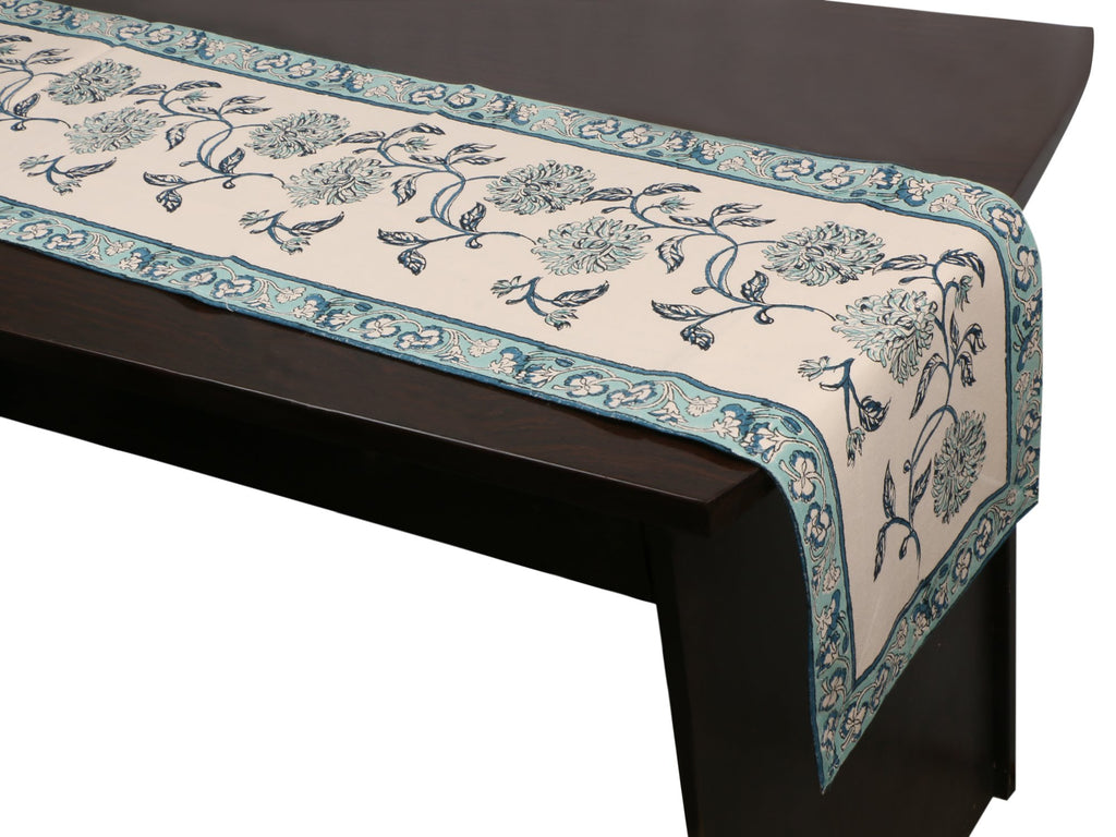 Cotton Floral & Paisley Table Runner - 18