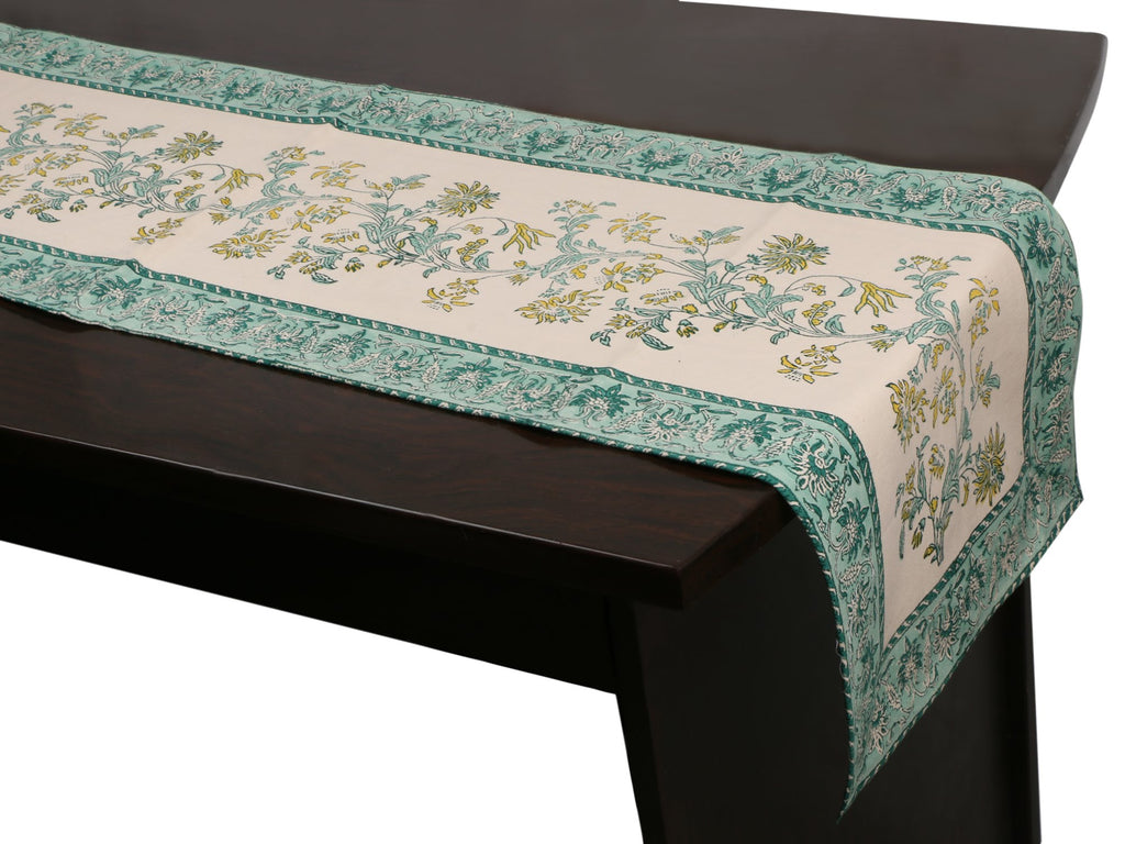 Cotton Floral & Paisley Table Runner - 2