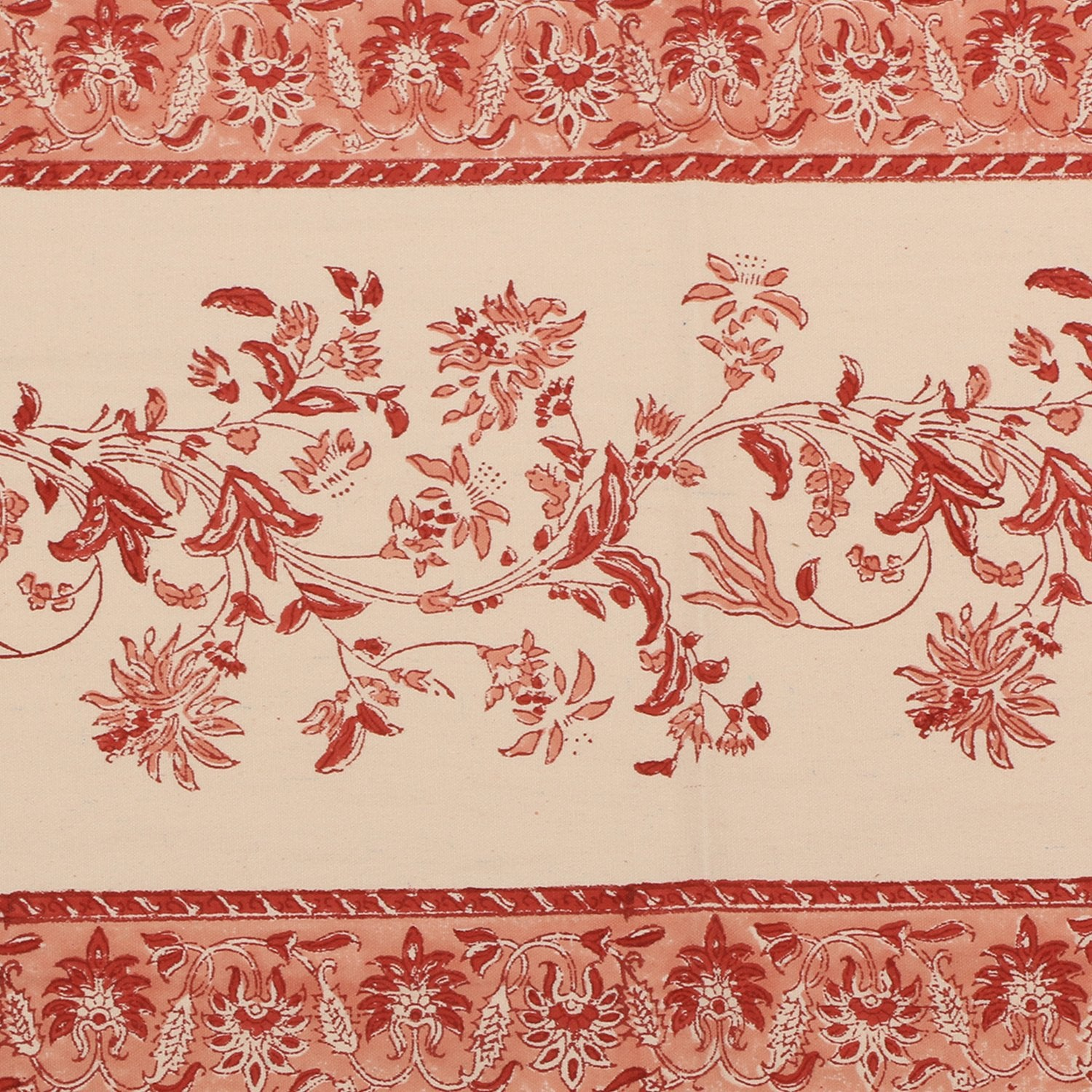 Cotton Floral & Paisley Table Runner - 1