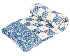 Blue Square Exotica Cotton Duvet