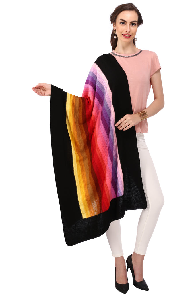 Stripes Acrylic Wool Stole
