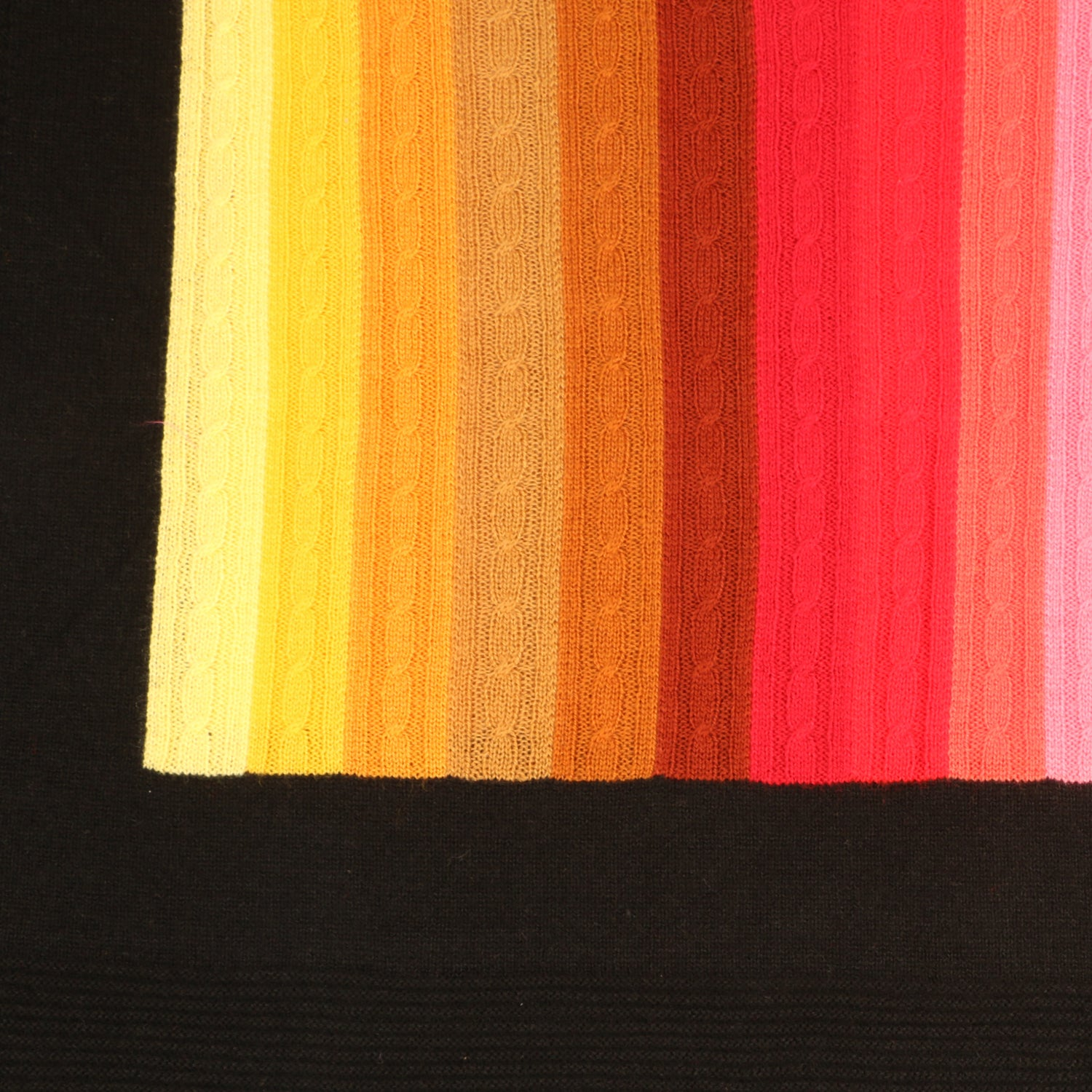 Rainbow Stripes Acrylic Wool Stole