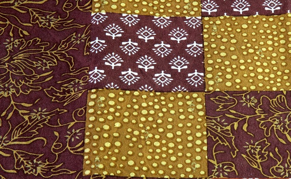 Brown Mineral Gold Cotton Bedspread