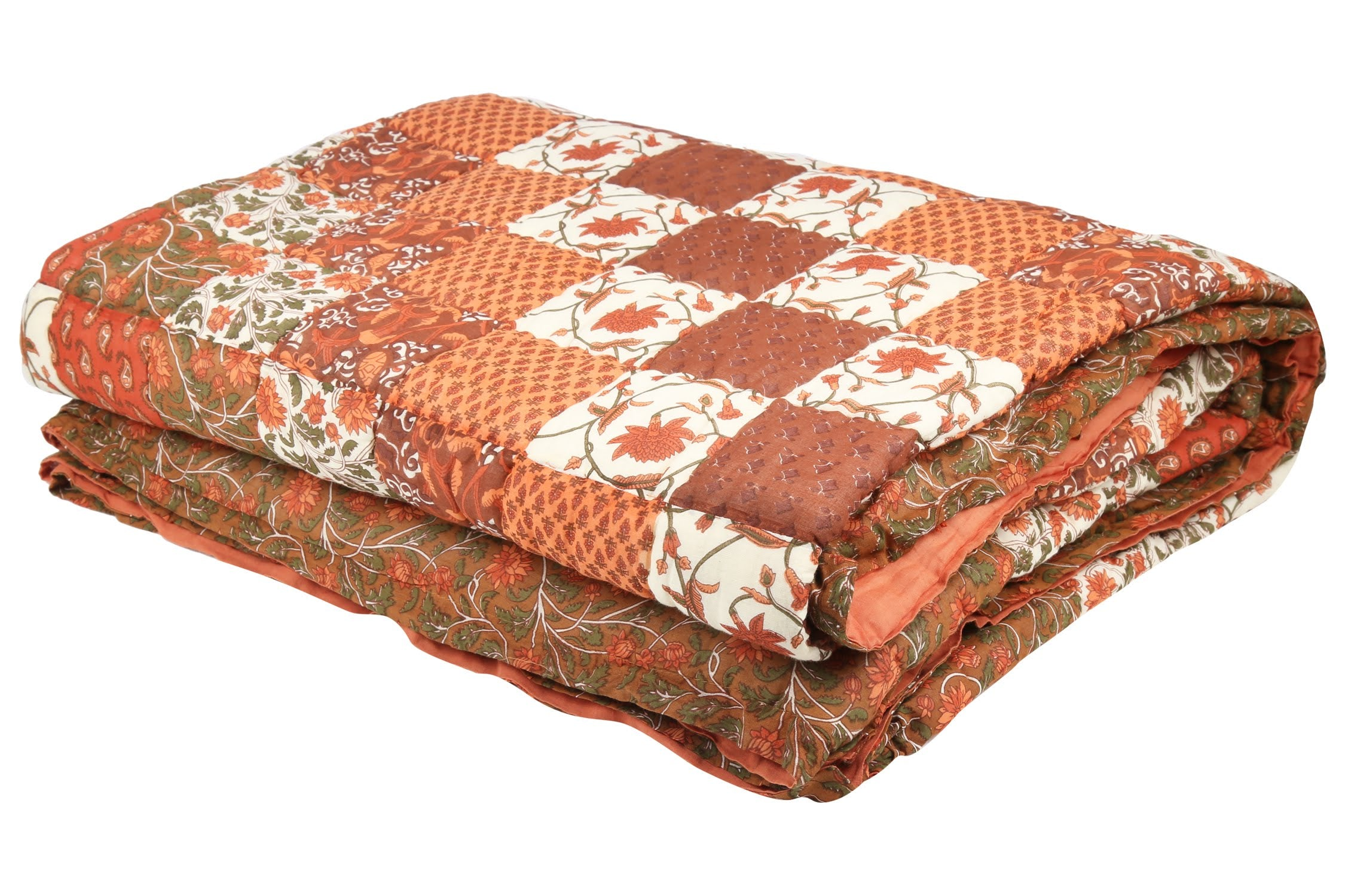 Brown Royal Garden Cotton Duvet