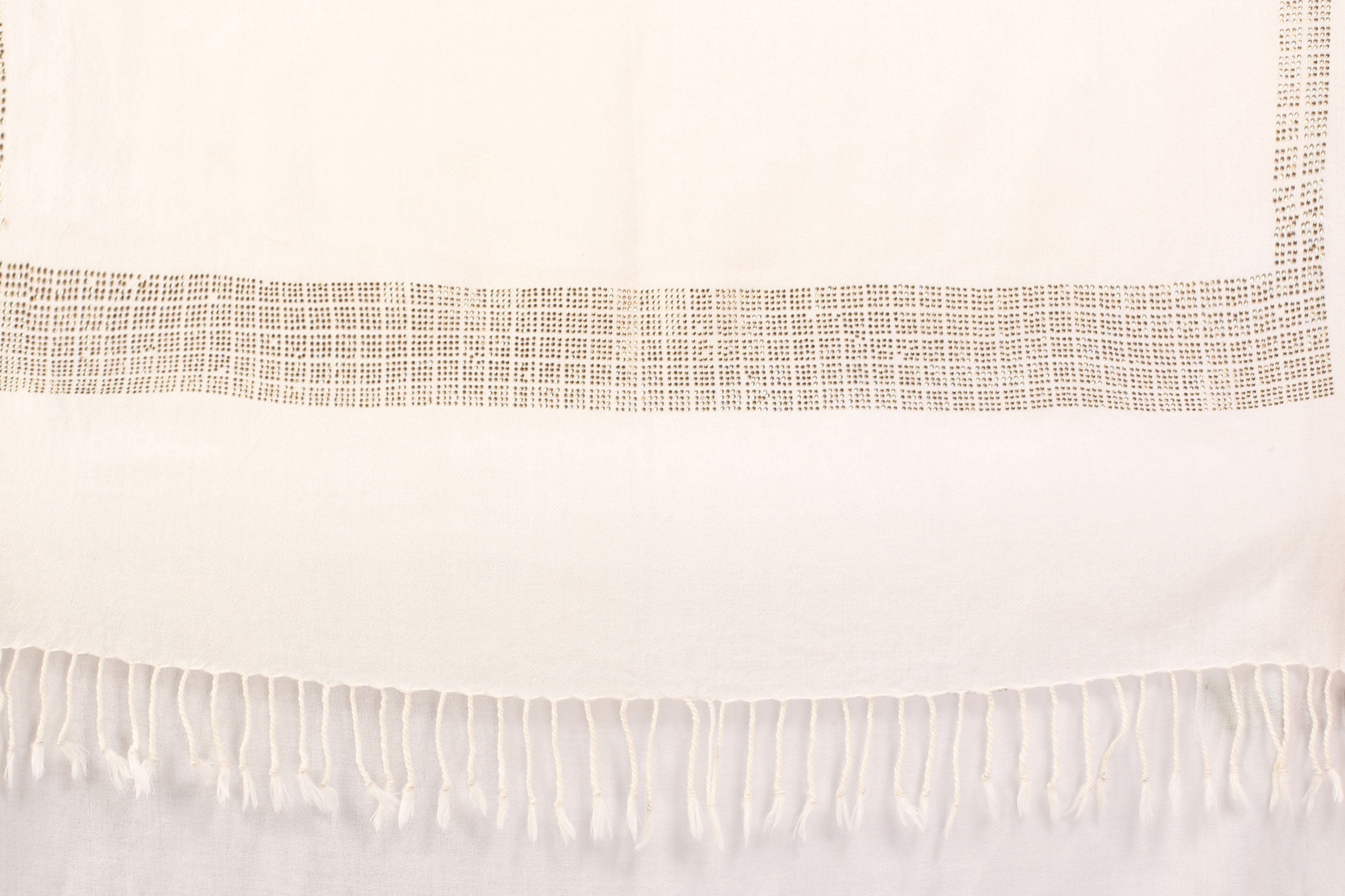 Square Line Crystal Fine Wool Stole