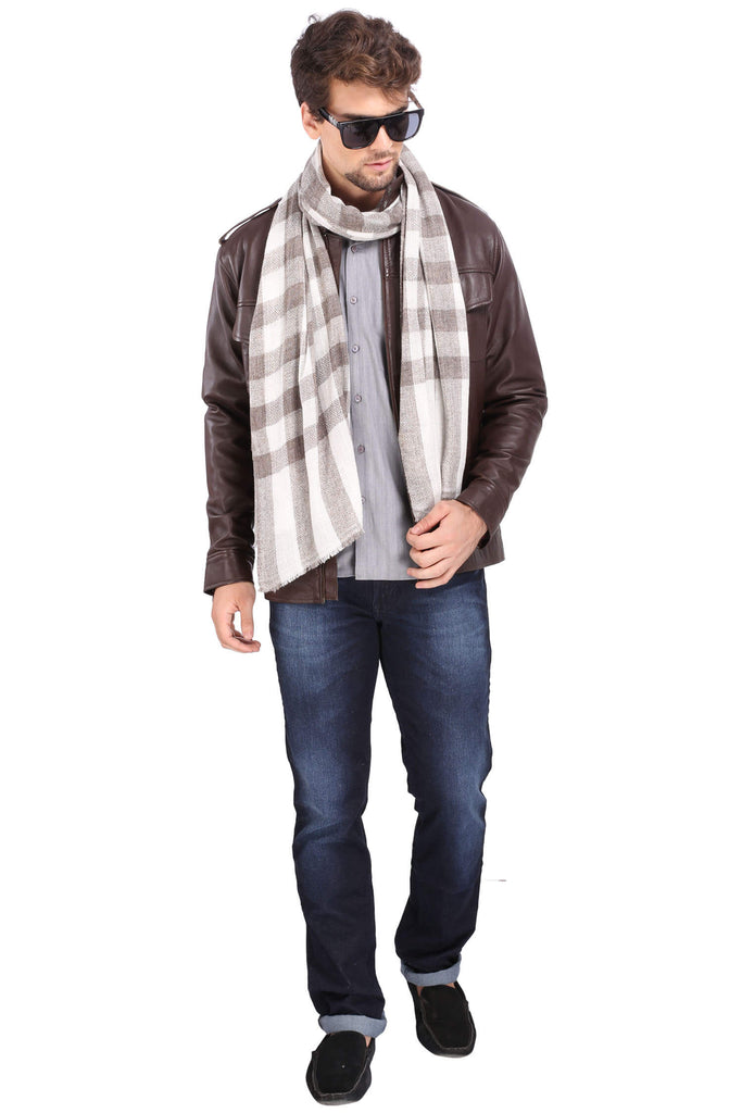 Men's Fine Wool Scarf - 1