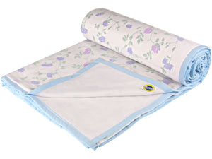 Purple Floral Cotton Single Dohar (88 x 58 inches)