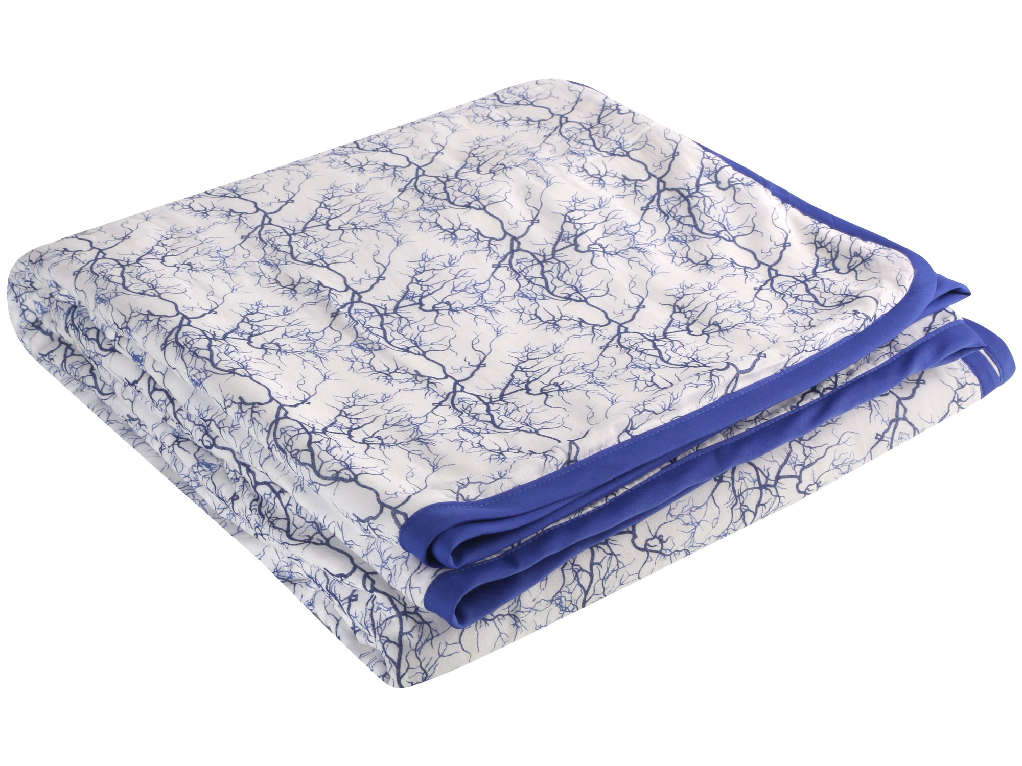 Blue Branches Cotton Single Dohar (88 x 58 inches)