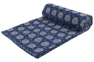 Indigo Reversible Cotton Single Dohar - 4 (90 x 58 inches)
