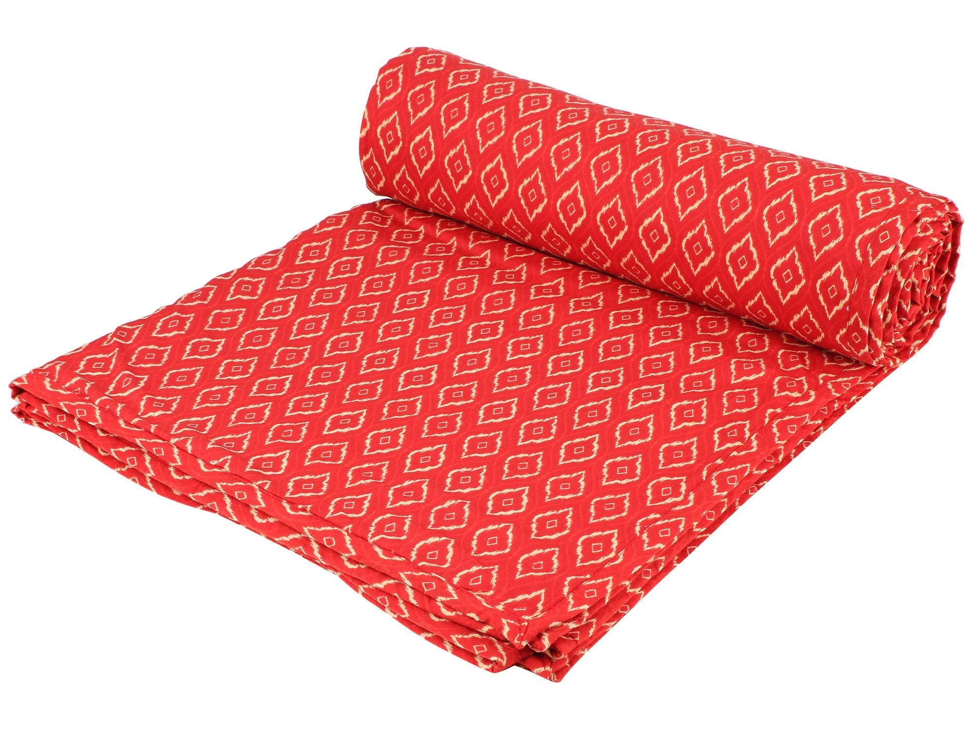 Red Tamarind Reversible Cotton Single Dohar - II (90 x 58 inches)