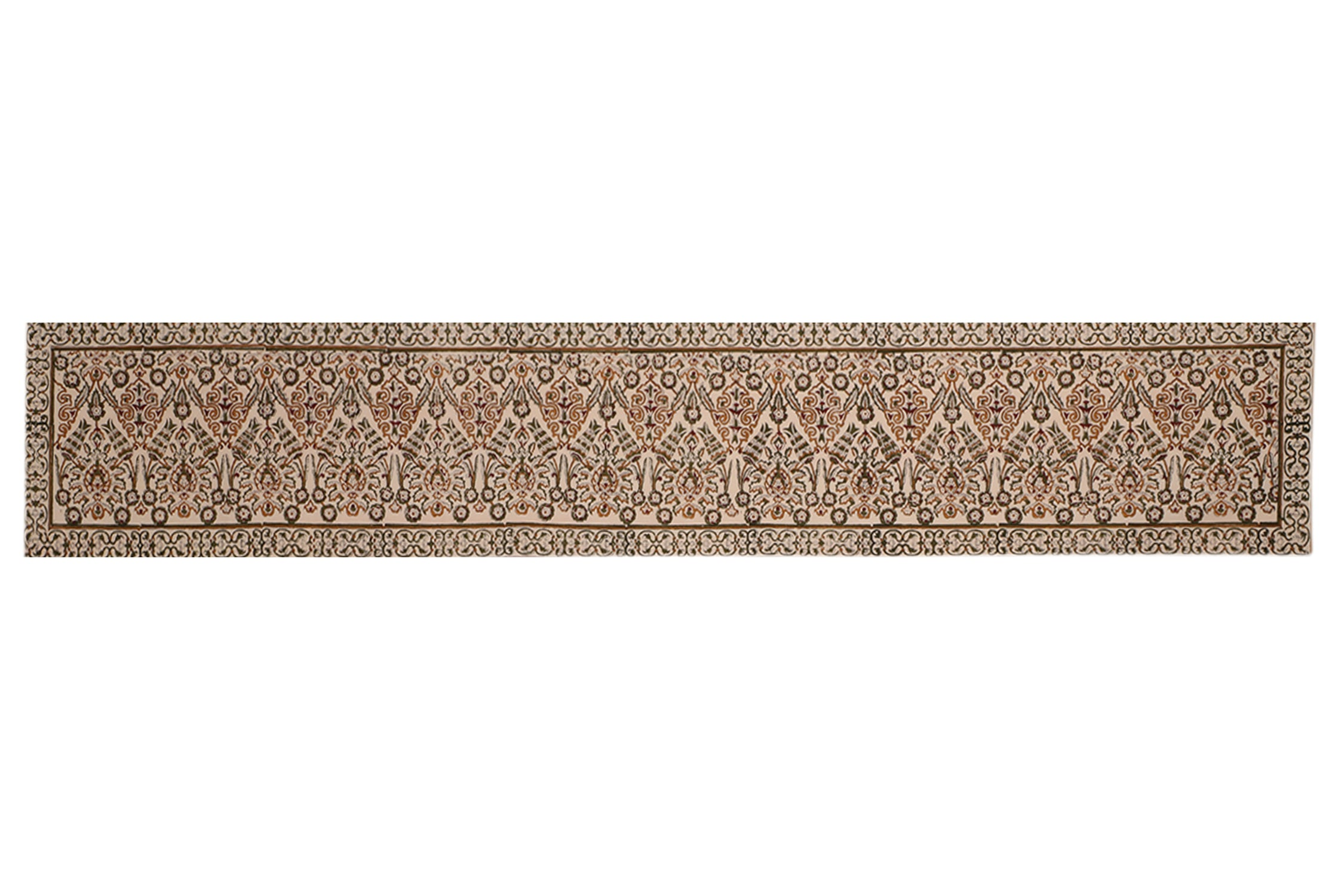 Cotton Floral & Paisley Table Runner - 13 x 72