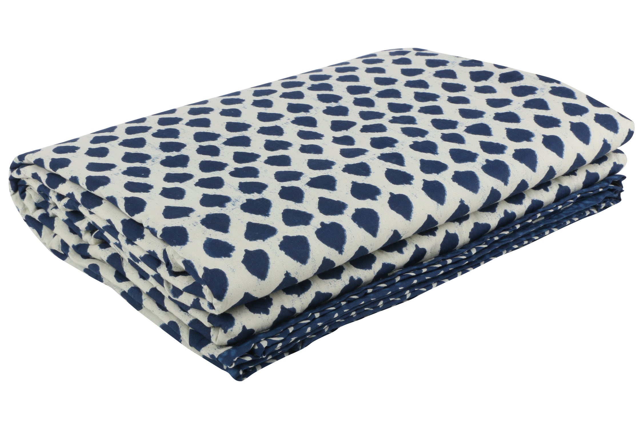 Indigo Reversible Cotton Single Dohar - 6 (90 x 58 inches)