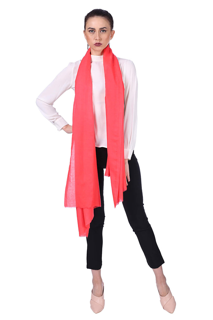 Office Girl Fine Wool Stole - 1