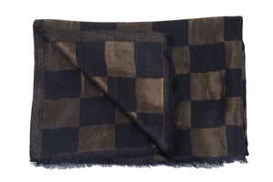 Checks Zari Fine Wool Stole