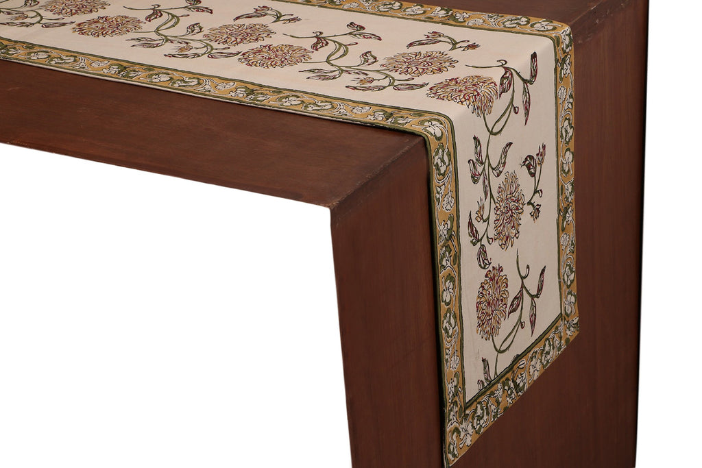 Cotton Floral & Paisley Table Runner - 23