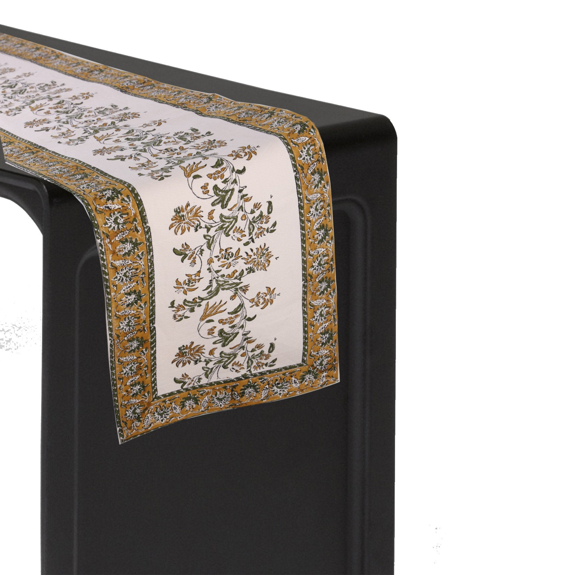 Cotton Floral & Paisley Table Runner - 13 x 54