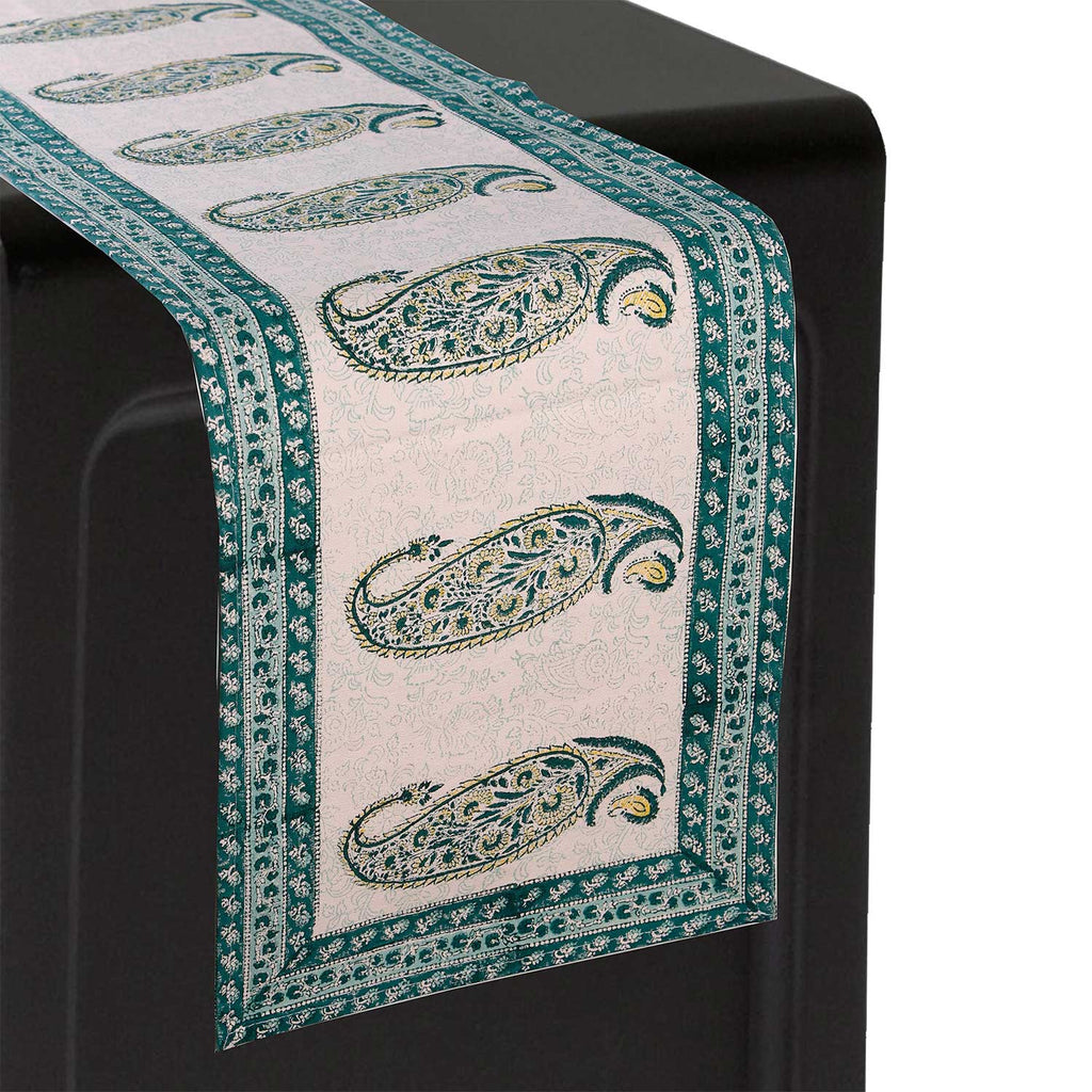 Cotton Floral & Paisley Table Runner - 39