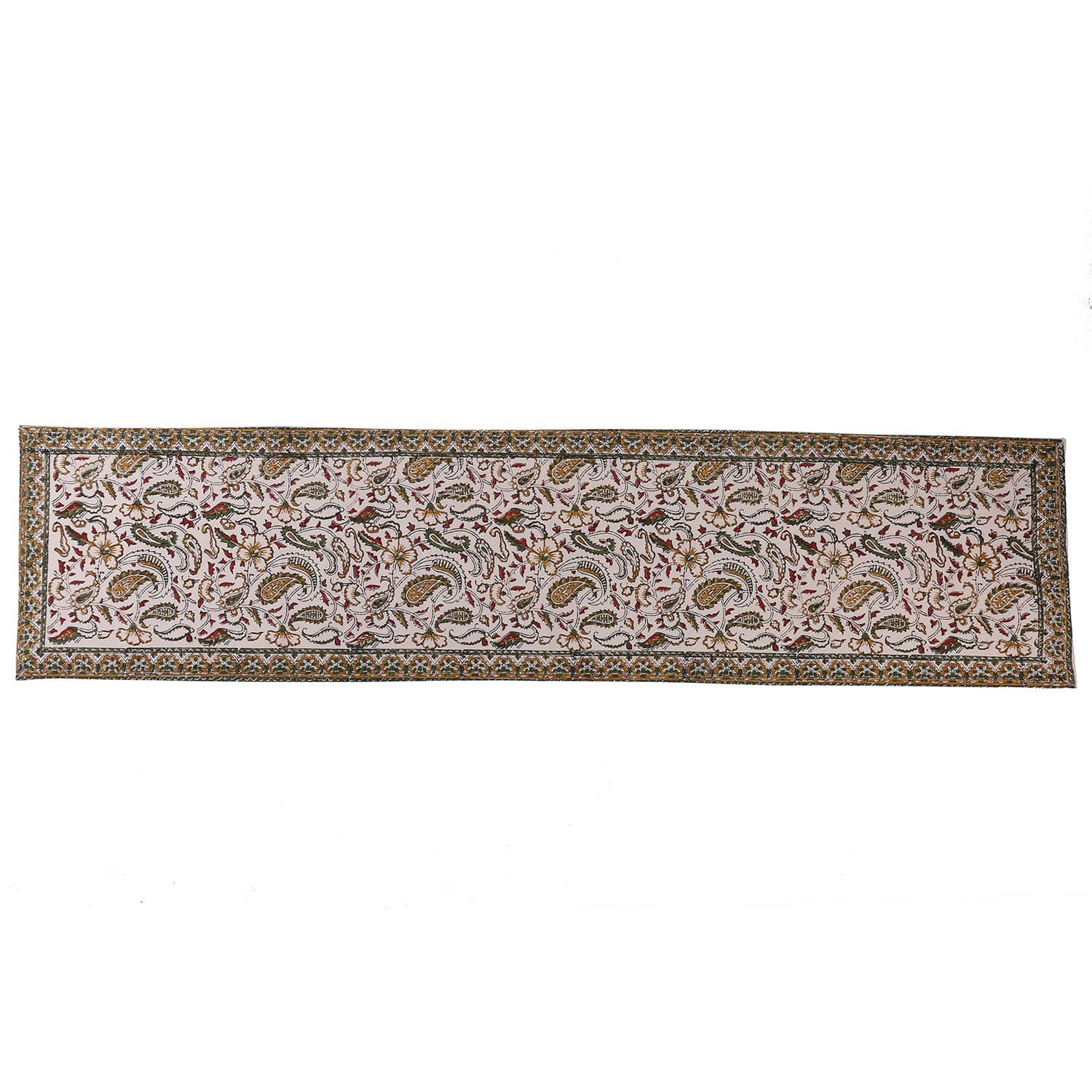 Cotton Floral & Paisley Table Runner - 42