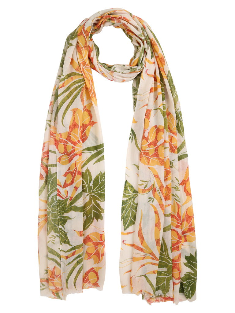 Multicolor Floral Cotton Stole