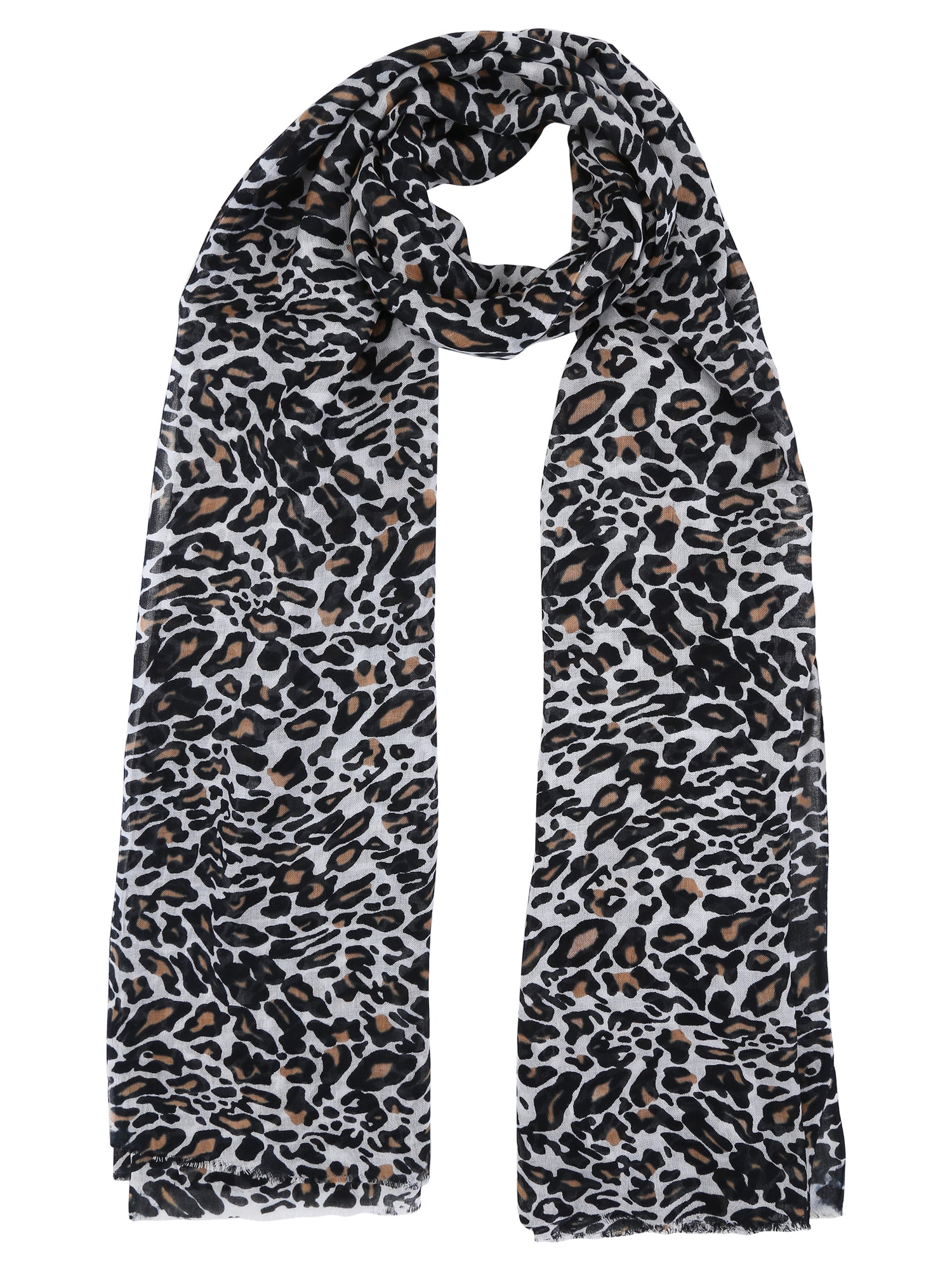 Brown Animal Print Cotton Stole